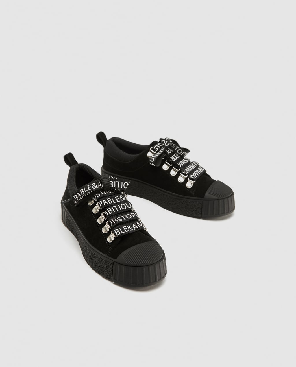 Pantofi cu mesaj Zara