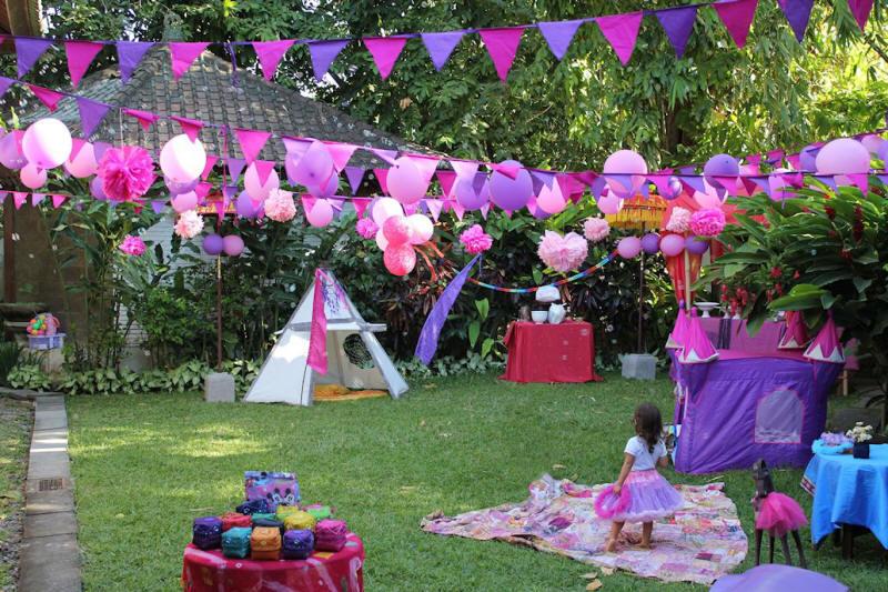 Decor pentru petreceri in gradina pentru copii