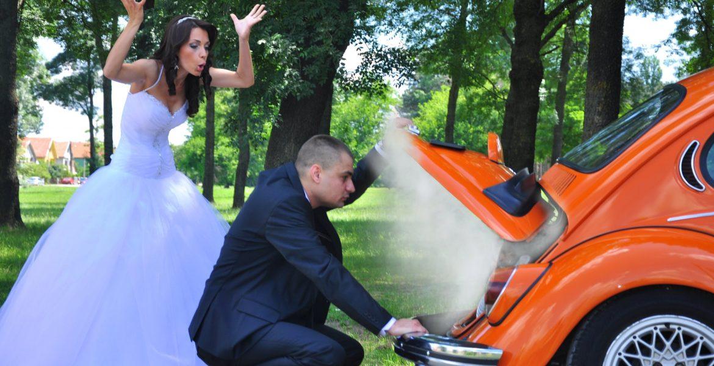 Cuplu casatorit certandu-se