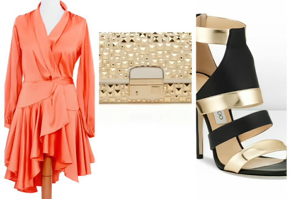 Rochie de ocazie satin orange www.icouture.ro